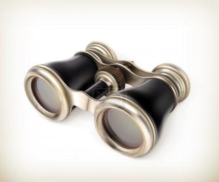 Illustration for Vintage binoculars vector - Royalty Free Image