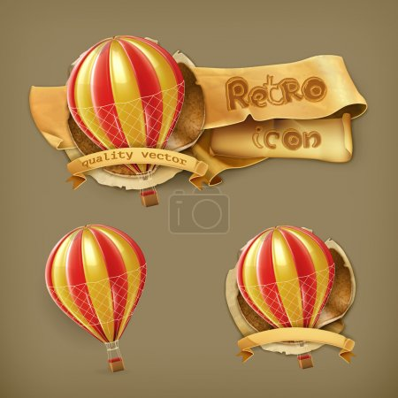 Illustration for Air balloon, vector - Royalty Free Image
