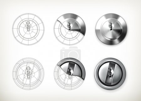 Illustration for Keyhole drawing vector - Royalty Free Image