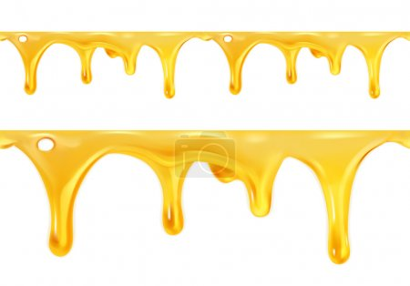 Sweet honey drips seamless vector...