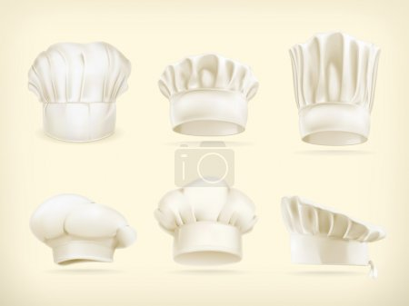 Illustration for Chef hats vector set - Royalty Free Image
