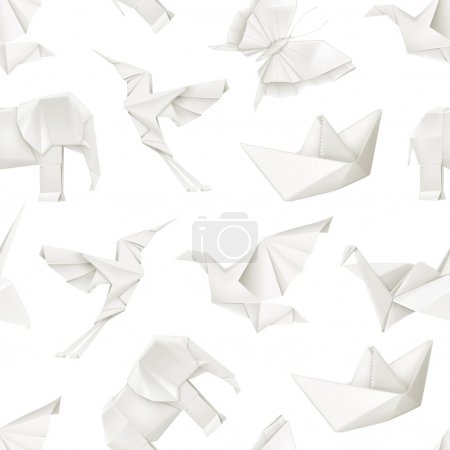 Origami, vector seamless pattern...