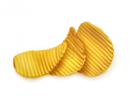 Potato chips, vector illustration