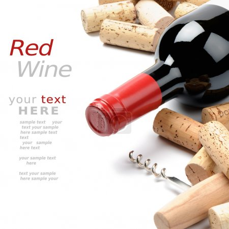 Photo for Wine and corks. Menu option - Royalty Free Image