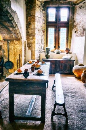 Medieval kitchen in old castle