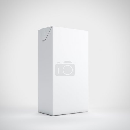 Photo for Medium white milk carton package - Royalty Free Image