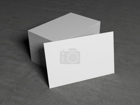 White business cards isolated