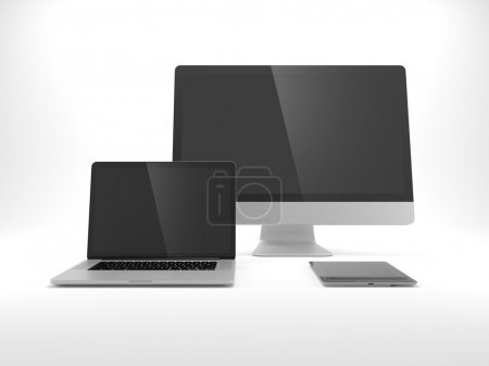 Computer, laptop, tablet isolated