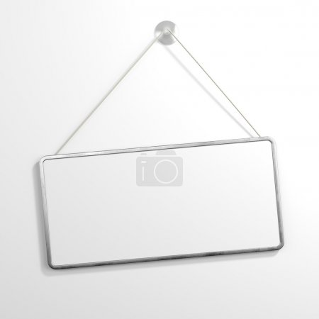 Photo for Iron sign hanging isolated on white background - Royalty Free Image