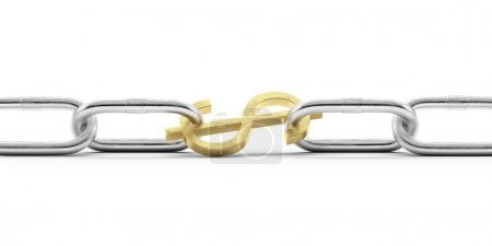 Euro currency symbol in chains