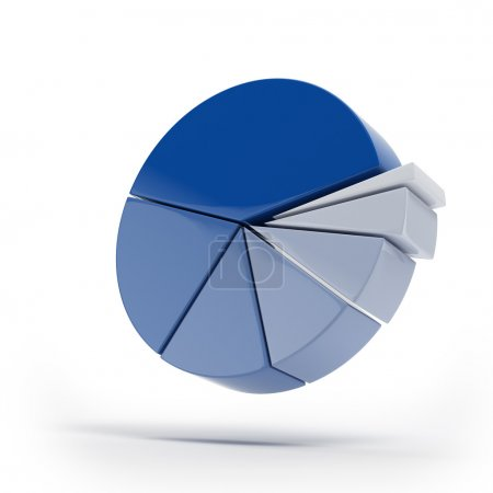 Blue pie graphs isolated