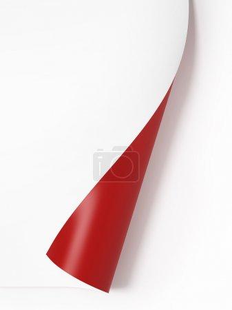 Red curled corner