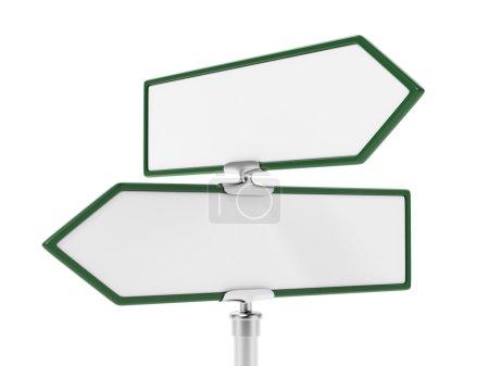 Photo pour Vide deux panneaux isolés sur fond blanc - image libre de droit