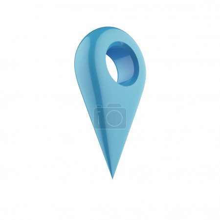 Shiny gloss blue ap pointer icon.