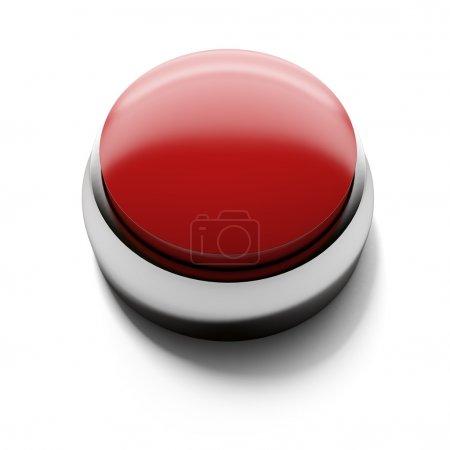 Photo pour Bouton blanc rouge isolé sur fond blanc - image libre de droit