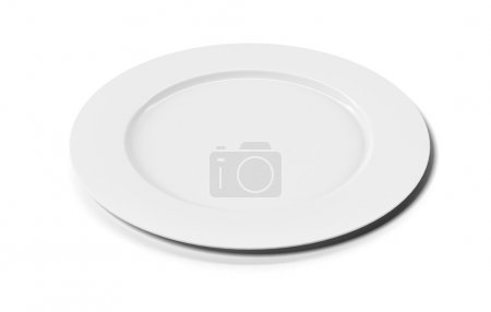 Photo for White empty plate isolated on white background - Royalty Free Image