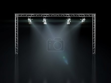 Stage lights isolated on black