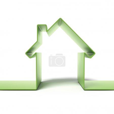 Green eco house concept