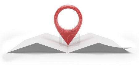 Photo pour Carte de navigation isolée sur fond blanc - image libre de droit