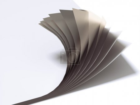 Close up of paper sheets