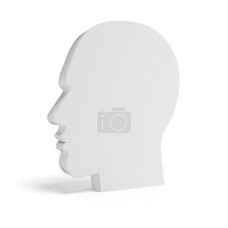 Photo pour Tête Blank isolée sur fond blanc - image libre de droit