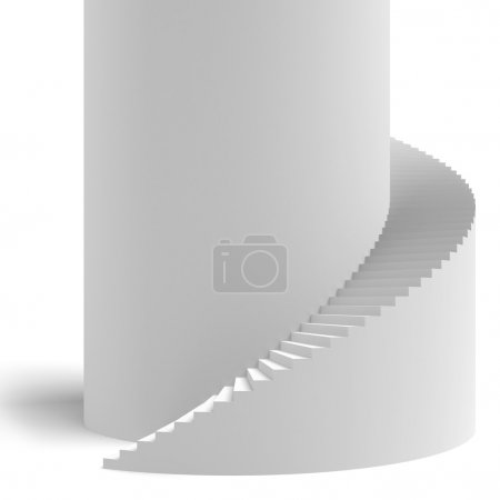Photo for White spiral stair isolated on a white background - Royalty Free Image