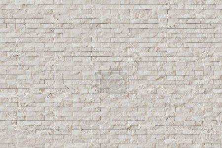 Photo pour Mur en brique moderne en pierre blanche. Mur en pierre - image libre de droit