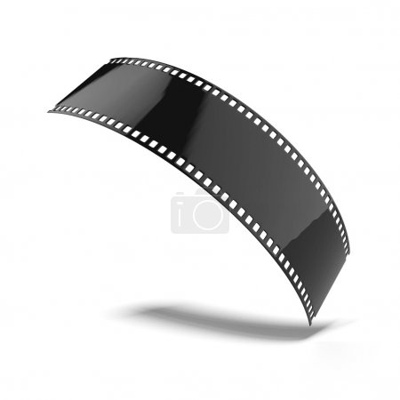 Photo for Black filmstrip isolated on a white background - Royalty Free Image