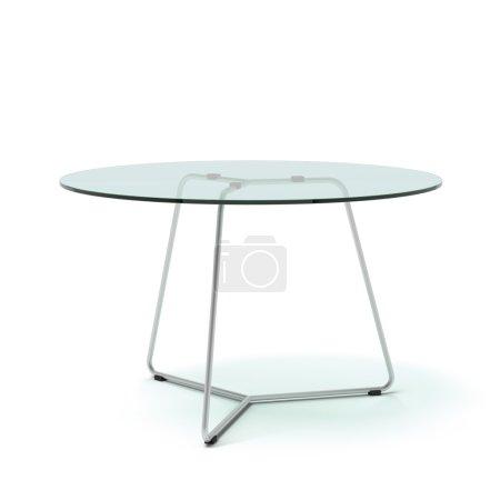 Modern galss table