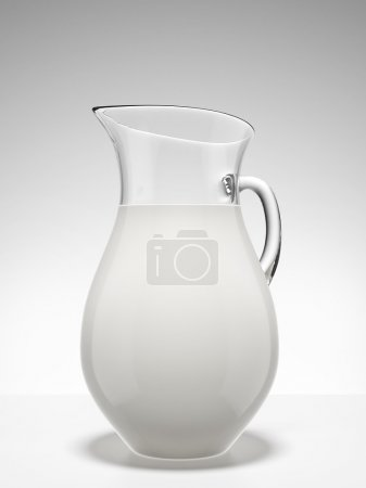 Photo for Jug of milk isolated on a white background - Royalty Free Image