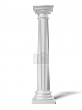 Photo for White column isolated on a white background - Royalty Free Image