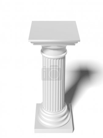 Close up of column
