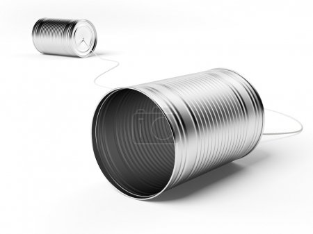 Two tin cans attached with string