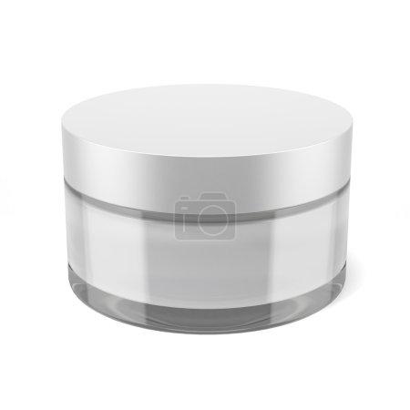 Photo pour Boîte à crème beauté isolée sur fond blanc - image libre de droit