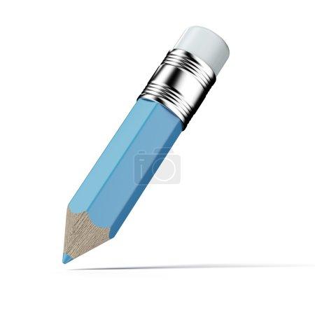 Photo pour Illustration 3d au crayon isolée sur fond blanc - image libre de droit
