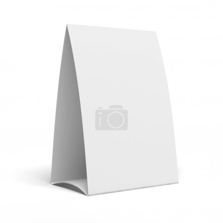 Photo pour Table Tente isolée sur fond blanc - image libre de droit