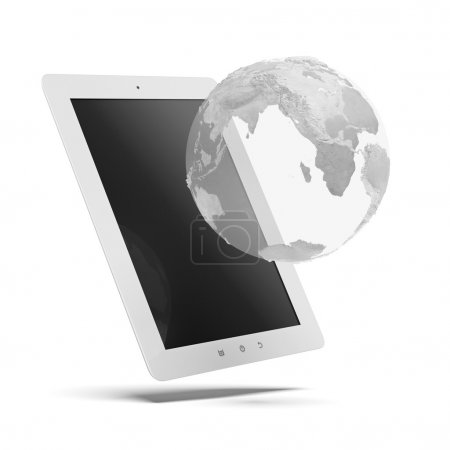 Tablet with globe