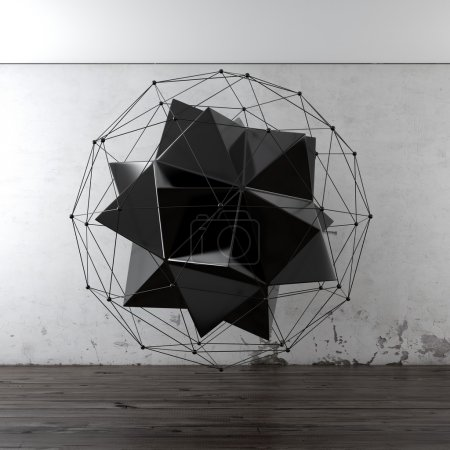 Photo pour Composition géométrique à l'intérieur - image libre de droit