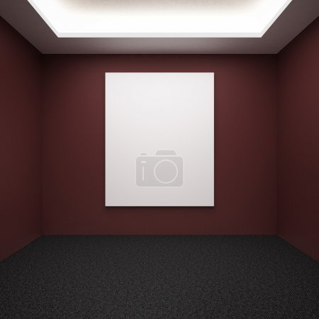 Photo for Gallery interior with red doors 3d render - Royalty Free Image