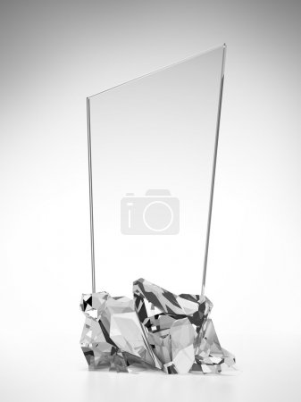 Glass award plate