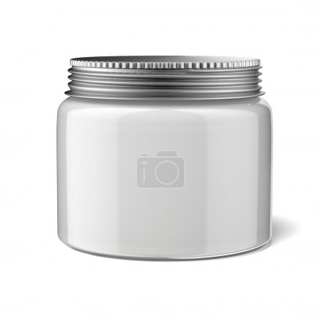 Photo for Blank cosmetic container isolated on a white background - Royalty Free Image