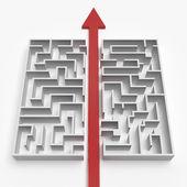 Piros egyenes vonal, a labirintus