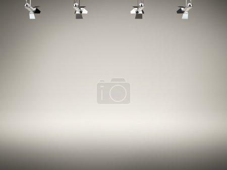 Photo pour Projecteur arrière-plan. 3d rendu - image libre de droit