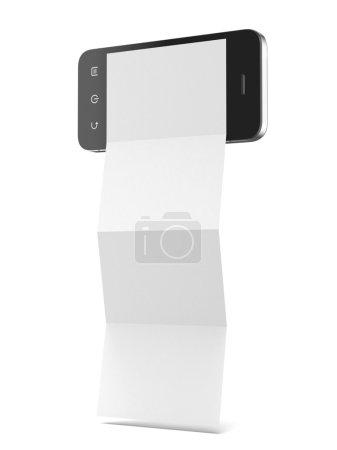 Photo pour Dépliant téléphone isolé sur un fond blanc - image libre de droit