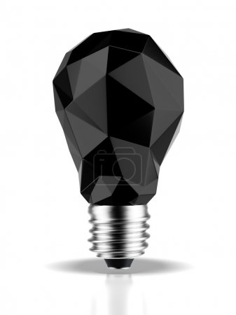 Photo for Abstract black bulb isolated on a white background. 3d render - Royalty Free Image