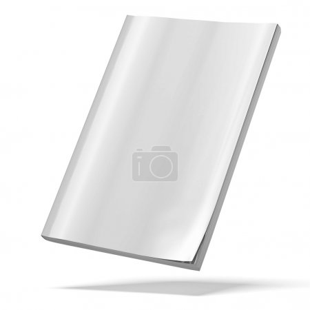 Photo for Blank magazine isolated on a white background. 3d render - Royalty Free Image