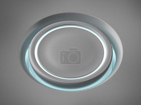 Circle Futuristic button