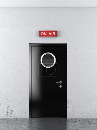 Photo pour Porte à tudio audio. 3d rendu - image libre de droit