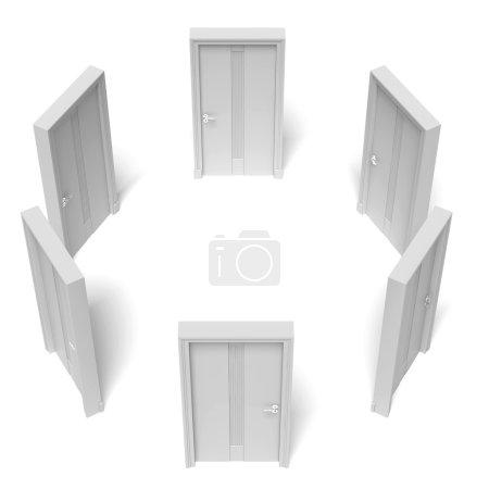 Circle of closed doors