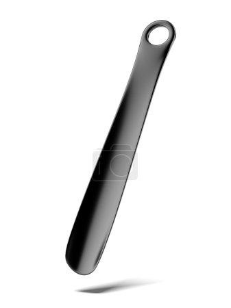 Plastic black shoehorn